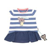 SIGIKID Kleid marine / rosa / weiß