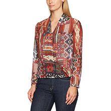 Seidensticker Damen Fashion-Bluse 1/1-Lang, Mehrfarbig (Rot 48), 38