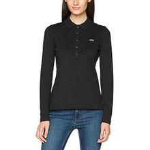 Lacoste Damen Poloshirt Pf7841, Schwarz (Noir), 44 (Herstellergröße: 44)