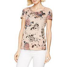 TAIFUN Damen T-Shirt 1/2 Arm, Mehrfarbig (Misty Rose Druck 3007), 36