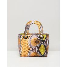Sacred Hawk - Tasche mit Schlangenmuster-Mix - Gelb