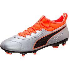 Puma ONE 3 Leather AG Fußballschuh silber Herren