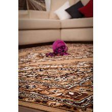 Kayoom_Wohnzimmer Teppiche_mit attraktiven Farben und Muster_Iran - Teheran Beige 70cm x 140cm, Teppich Größe:Ø 120cm RUND, Teppich Farbe:Beige