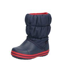 Crocs Boots 'Winter Puff Boot Kids' navy / rot
