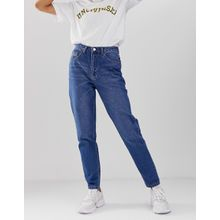 Uncivilised - Klassische Mom-Jeans - Blau