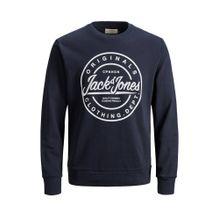 JACK & JONES Sweatshirt dunkelblau / weiß