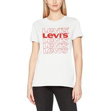Levi's Damen T-Shirt The Perfect Tee, Weiß (Repeat Cloud Dancer 0321), Small