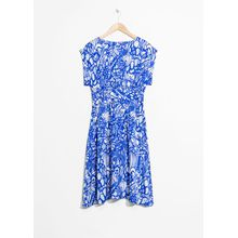 Printed Tea Dress - Blue