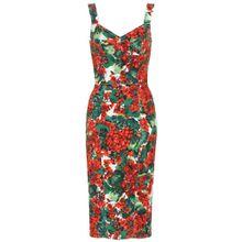 Bedrucktes Kleid aus Cady
