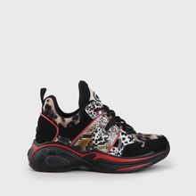 CLD Cray Sneaker Low-Top Glattleder-Optik Tiermuster