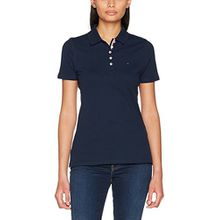 Tommy Jeans Damen Poloshirt Tjw Original Basic Polo, Blau (Dress Blues 418), Large