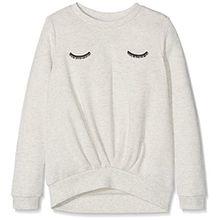 NAME IT Mädchen Sweatshirt Nithila Unb Swe Nmt, Grau (Light Grey Melange Light Grey Melange), 152