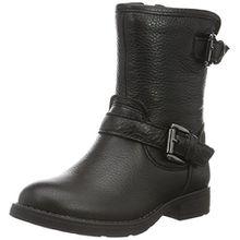 Geox Mädchen JR Sofia D Biker Boots, Schwarz (BLACKC9999), 33 EU