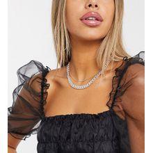 DesignB London – Exklusive, dicke und schmale,mehrlagige Halsketten aus verschiedenen Metallen-Mehrfarbig