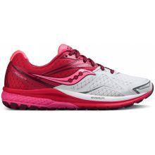 Saucony - Ride 9 Damen Laufschuh (weiß/pink) - EU 41 - US 9,5