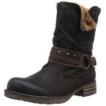 Remonte Damen Biker Boots, Schwarz (01), 38 EU (5 Damen UK)