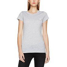 G-STAR RAW Damen T-Shirt Eyben Slim R T Wmn S/S, Weiß (Grey HTR 906), 40 (Herstellergröße:L)