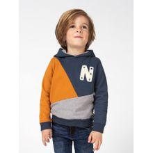 Noppies Sweater 'Absecon' nachtblau / goldgelb / graumeliert