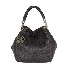 Silvio Tossi Lederhandtasche mit original Prägung Handtaschen schwarz Damen