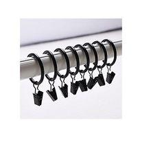 Miya@ hochwertige 30 Packung Metall Vorhang Clip Ringe Gardinenringe mit Clip Drapery Vorhang Ringe mit Clip (schwarz)