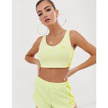 adidas Originals - Neongelbes Bralette mit den 3-Streifen - Gelb