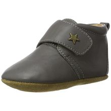 Bisgaard Unisex Baby Velcro Star Pantoffeln, Grau (70 Grey), 24 EU