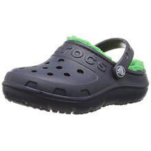 crocs Hilo Lined Clog Kids, Unisex-Kinder Clogs, Blau (Nagg), 24/25 EU