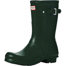 Hunter Damen Original Short Kurzschaft Gummistiefel, Grün Green, 39 EU (6 UK)