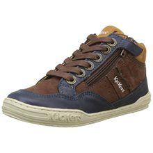 Kickers Jungen Justicier Hohe Sneaker, Braun (Marron 9), 31 EU