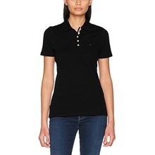 Tommy Jeans Damen Poloshirt Tjw Original Basic Polo, Schwarz (Tommy Black 078), Medium