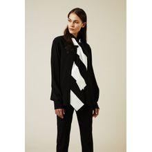 Givenchy Seidenbluse mit Bindeelement Schwarz - Seide