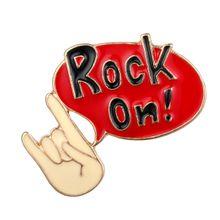 """Pin """"Rock on"""""""
