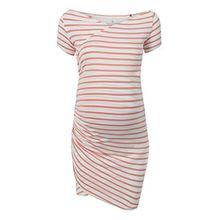bellybutton Damen Kleid Nursing - Wickelkleid Schwangere, gestreift // stripe/multicolored Gr. XS