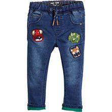 Jeans Skinny Fit mit Tieraufnähern  blau Jungen Baby