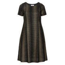 SHEEGO Kleid gold / schwarz