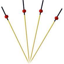 Procos Party Zubehör 24 Zahnstocher mit aufgesetzten roten Bällen bunt