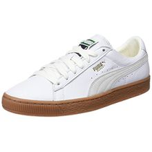 Puma Unisex-Erwachsene Basket Classic Gum Deluxe Sneaker, Weiß White, 42 EU
