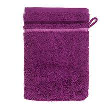 Schiesser 101080 Skyline Color Waschhandschuh, 16 x 22 cm, violett