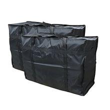 Evst Wäschesack / Aufbewahrungstaschen für Kleidung, Bettwäsche, Spielzeug / Umzugs-Taschen–Großer Wäschesack / Aufbewahrungstaschen mit Reißverschlüssen, 2 Stück schwarz