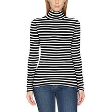 comma Damen Pullover 85899610284, Grau (2 Tone Stripe Knit 99G0), 36