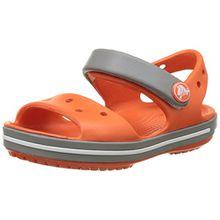crocs Unisex-Kinder Crocband Sandal Kids Clogs, Rot (Tangerine/Smoke), 25-26 EU (9)