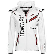 Geographical Norway Damen Softshelljacke Romantic white/coral XL