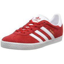 adidas Unisex-Kinder Gazelle Sneaker, Rot (Scarlet/FTWR White/Gold Met), 38 2/3 EU