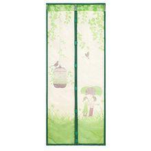 Souarts Grün Fliegengitter Magnetvorhang für Türen Insektenschutz Türvorhang Moskitonetz mit Magnetverschluss 90*210cm(B*H)