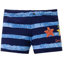 Schiesser Baby - Jungen Badehose Capt´n Sharky Baby Badeshorts, Gr. 74 (Herstellergröße: 413), Blau (admiral 801)