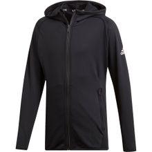 ADIDAS PERFORMANCE Trainingsjacke 'Tr Fl Fz' schwarz / weiß