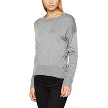 TOM TAILOR Damen Pullover Wooly Sweater, Silber (Light Frost Grey 2640), Small