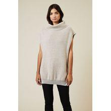 Stella McCartney Woll-Strick-Pullover mit Reißverschlüssen Beige