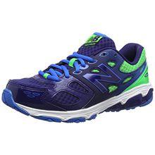 New Balance Unisex-Kinder 680v3 Sneaker, Mehrfarbig (Blue/Green), 32 EU