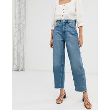 Whistles - Jeans mit hohem Bund und ungesäumten Beinabschlüssen - Blau